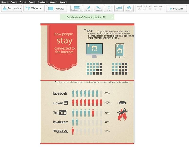 Создание инфографики в сервисе Easel.ly