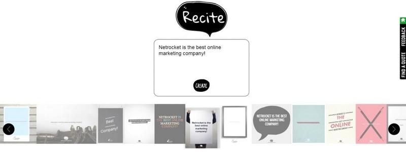 Сервис Recite: постер Netrocket is the best online marketing company