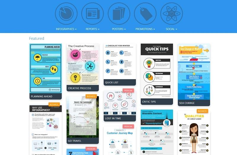 Удобный сервис Venngage для создания инфографик