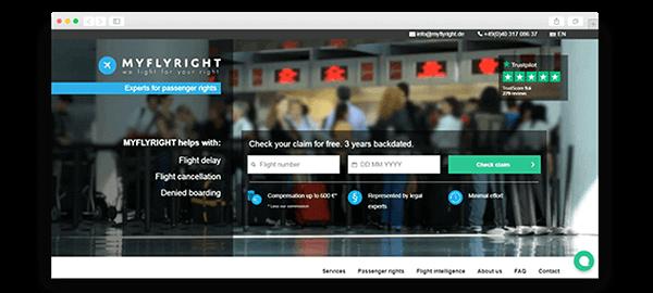 Дизайн сайта Myflyright