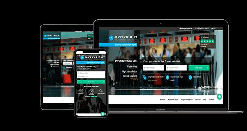 Дизайн сайта компании Myflyright