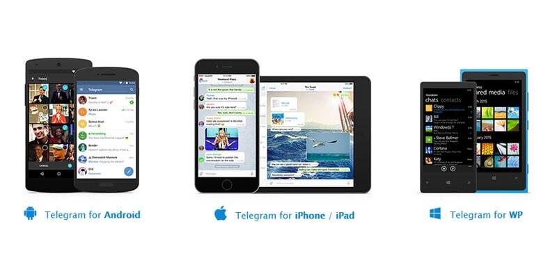 Telegram на разных устройствах